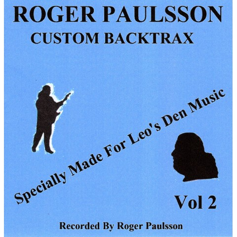 ROGER PAULSSON - CUSTOM BACKTRAX VOL.2 - Backing Track CD WITH Tabs.