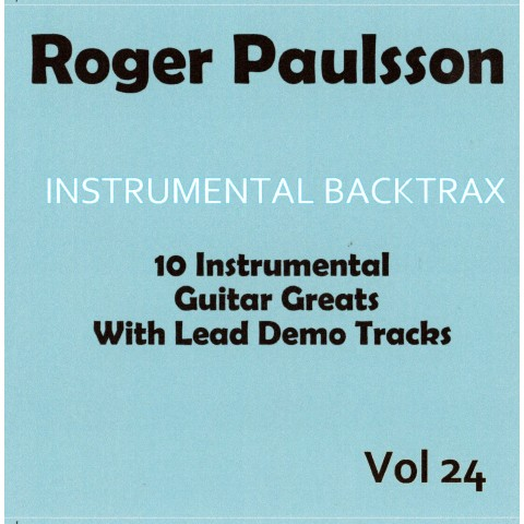 ROGER PAULSSON - INSTRUMENTAL BACKTRAX VOL  24 CD BACKING TRACK