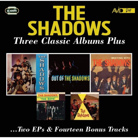 THE SHADOWS - THREE ALBUMS PLUS..... 2CD