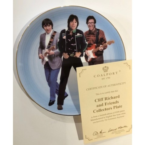 COLLECTORS PLATE - CLIFF RICHARD AND FRIENDS - BRUCE AND HANK