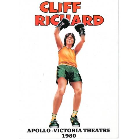 CLIFF RICHARD CONCERT BROCHURE APOLLO VICTORIA 1980