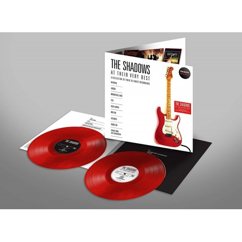 RED VINYL - THE SHADOWS - AT THEIR VERY BEST - 2 LP