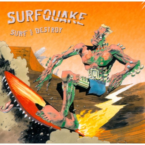 SURFQUAKE - SURF AND DESTROY - CD