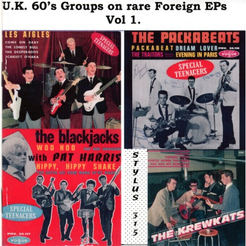 U.K. 60's GROUPS ON RARE FOREIGN EPs Vol 1 - CD