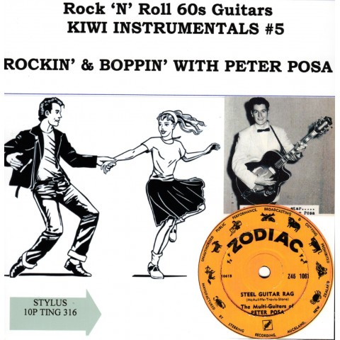 ROCKIN 60S INSTRO KIWI GUITAR VOL 5 -PETER POSA - STYLUS CD