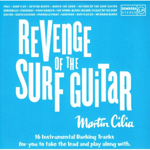MARTIN CILIA - REVENGE OF SURF GUITAR - BACKING TRACK CD - IMPORT