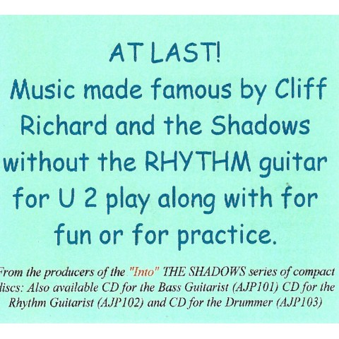 ADRIAN JAY - AT LAST - MUSIC MADE FAMOUS BY CLIFF & THE SHADOWS FOR RHYTHM GUITAR - BACKING TRACK CD