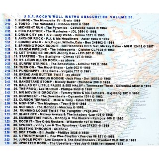 USA ROCK N ROLL INSTRO OBSCURITIES VOL 23 - CD - STYLUS