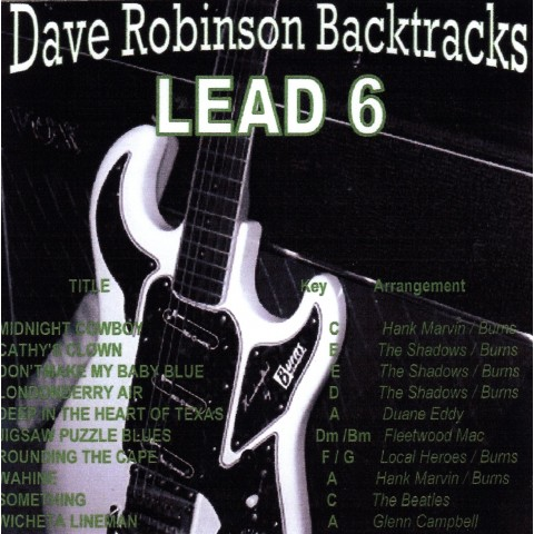 DAVE 'ROBBO'  ROBINSON - LEAD 6 - Backing Track - CD