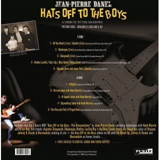 PREORDER JEAN-PIERRE DANEL - HATS OFF TO THE BOYS - PICTURE DISC LP VINYL - IMPORT