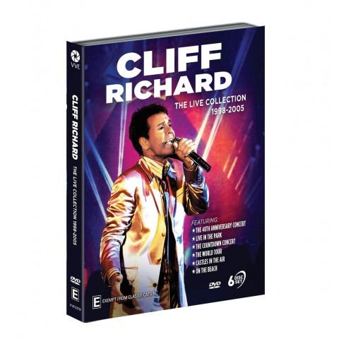 CLIFF RICHARD - 6 DVD LIVE COLLECTION 98 - 05