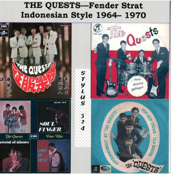 THE QUESTS - FENDER STRAT INDONESIAN STYLE 1964-1970 - CD STYLUS