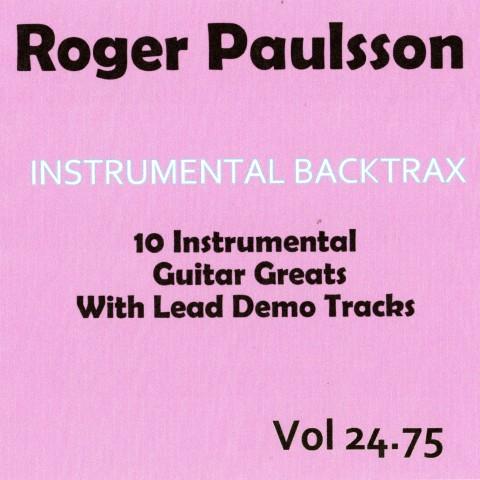 ROGER PAULSSON - INSTRUMENTAL BACKTRAX VOL 24.75 - CD BACKING TRACK