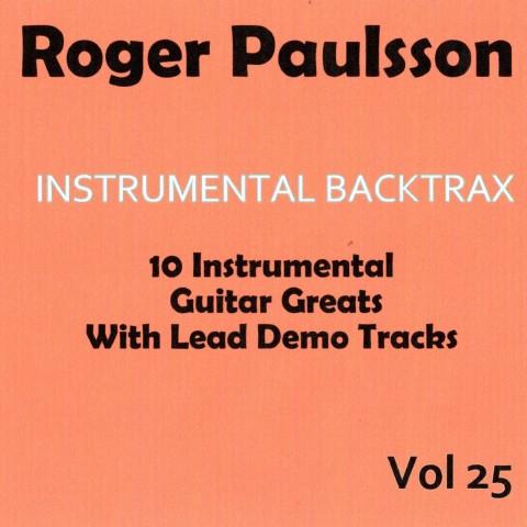 ROGER PAULSSON - INSTRUMENTAL  BACKTRAX VOL 25 - CD BACKING TRACK