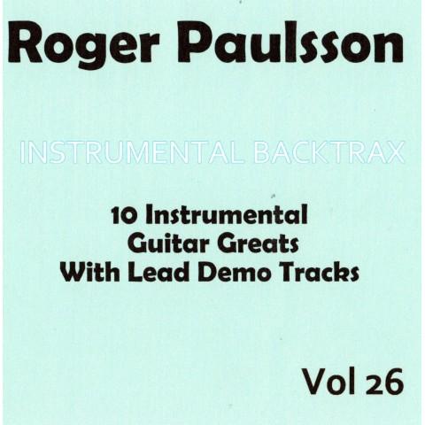 ROGER PAULSSON - INSTRUMENTAL BACKTRAX  VOL 26 - CD  BACKING TRACK