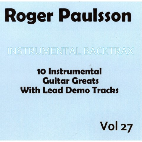 ROGER PAULSSON - INSTRUMENTAL BACKING TRACK VOL 27 - CD BACKTRAX