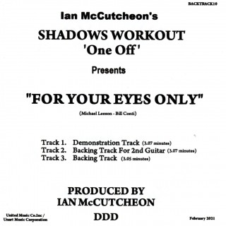 IAN MCCUTCHEON - FOR YOUR EYES ONLY  - MP3 3 TRACK -  BACKING TRACK