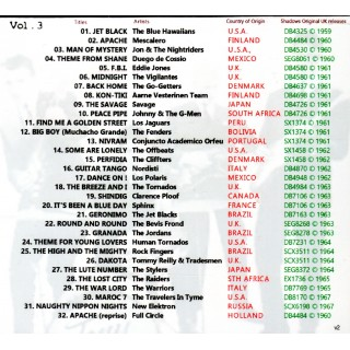 PRE-ORDER - SHADOWS INFLUENCES AROUND THE WORLD VOL 3 - STYLUS - CD