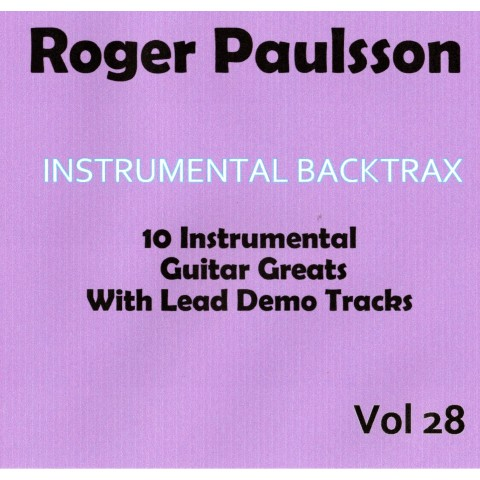 ROGER PAULSSON - INSTRUMENTAL  BACKTRAX VOL 28 - CD BACKING TRACK