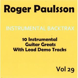 ROGER PAULSSON - INSTRUMENTAL  BACKTRAX VOL 29 - CD BACKING TRACK