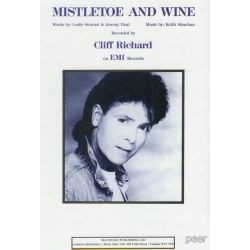 SHEET MUSIC - CLIFF RICHARD - MISTLETOE AND WINE
