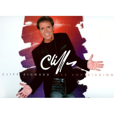 CLIFF RICHARD - LIVE  AND  KICKING - 2004 - TOUR PROGRAMME BROCHURE